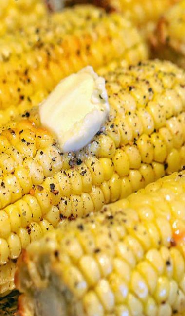 The Best Ever Oven Roasted Corn...