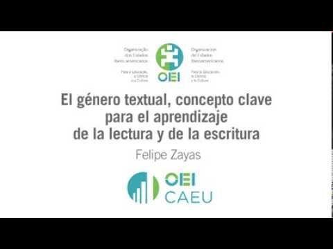 El género textual, concepto clave para el aprendizaje de la lectura y de la escritura - Felipe Zayas