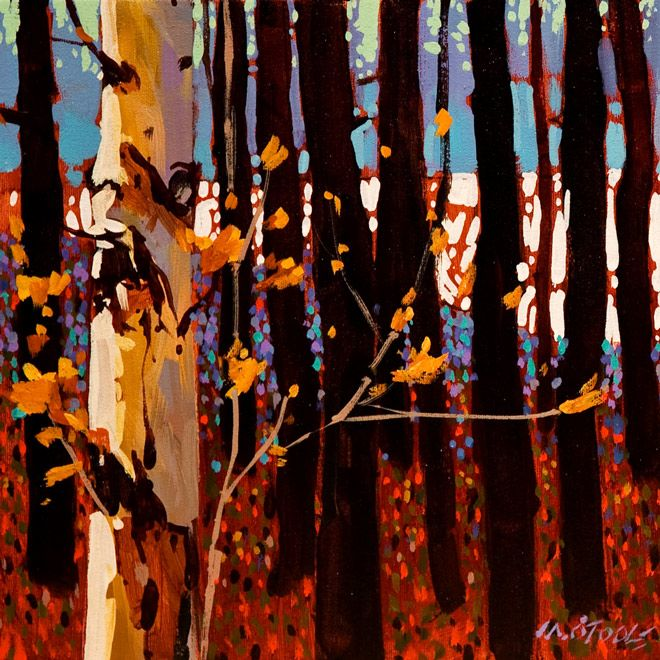 Light and White Poplar, by Michael O'Toole (b1963; Vancouver, British Columbia, Canada)
