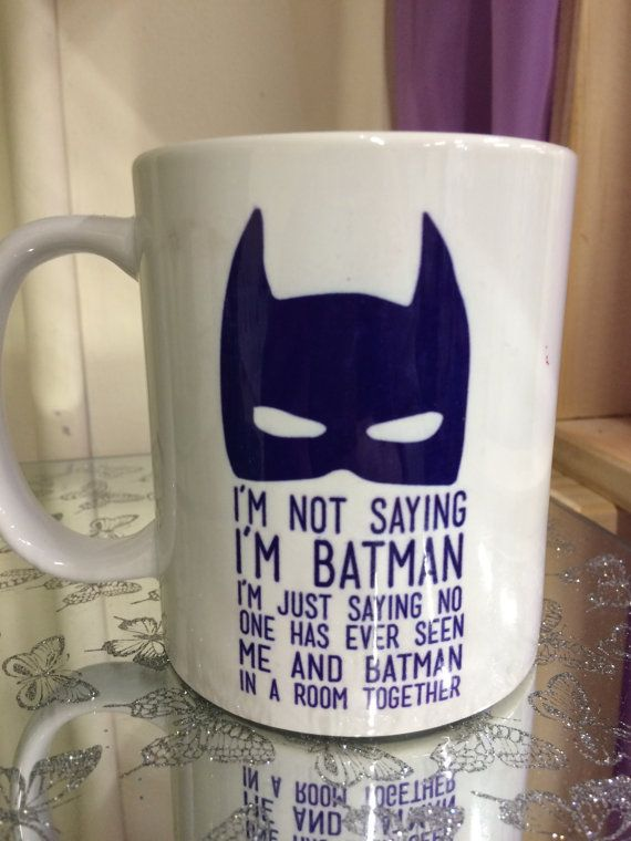 Batman Mug Ceramic Mug Funny Quirky Novelty by DesignedByDeeUK