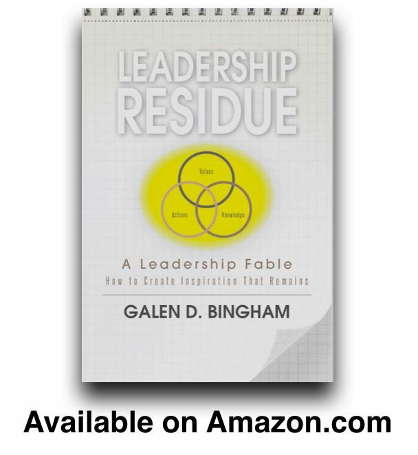 Leadership Residue: A Leadership Fable and Leadership Residue Writings On the Wall are available on Amazon.com.   #LeadershipResidueBook #leadership #leadershipdevelopment