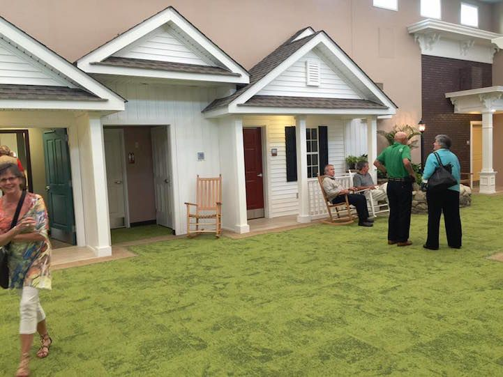 assisted living facility realistically designed to look like cute