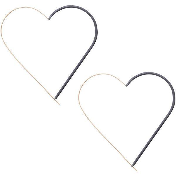 ZIMMERMANN Heart Hoop Statement Earring ($195) ❤ liked on Polyvore featuring jewelry, earrings, accessories, heart jewellery, heart shaped earrings, heart-shaped jewelry, heart jewelry and statement earrings