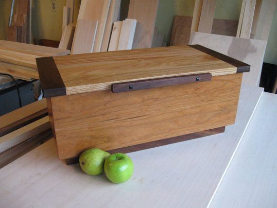 Large Wooden box of Cherry Walnut Oak and by AntonelliWoodcrafts, $169.00
