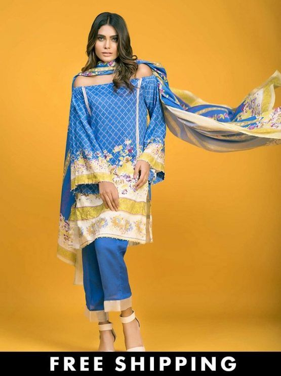 Gul Ahmed Khaddar #WinterCollection Unstitched 3 Piece Suit in Blue #SayNoToReplicas #PromoteOriginalsAndBeProud