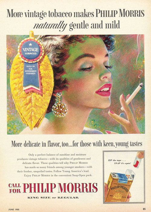 Cigarettes ads #vintage