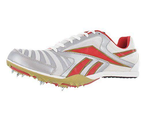 Reebok Men's Kuai Distance Track Spike,White/Silver/Red,11 M.