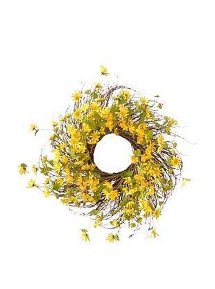 Melrose International Indoor/Outdoor Daisy Wreath (Yellow)