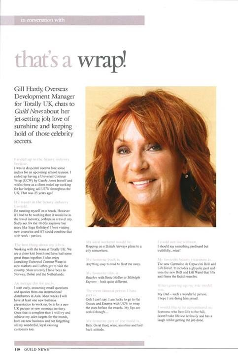 If you're a salon and have dealt with Universal Contour Wrap for a while, you'll have probably spoken to Gill at some point. Gill has been with us for over 20 years. Check out her story in the latest Guild magazine.