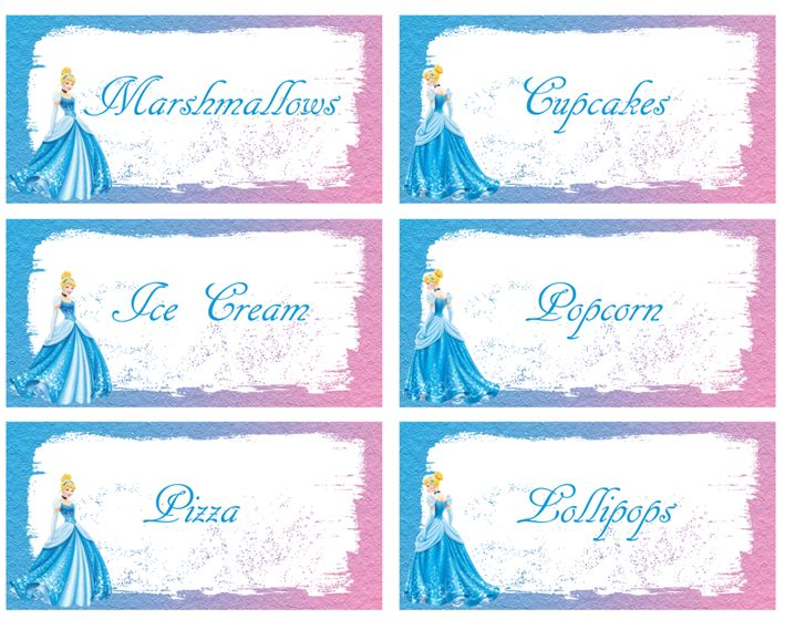 80680215c FREE Cinderella Food Labels Birthday party saved | Projects to Try ...