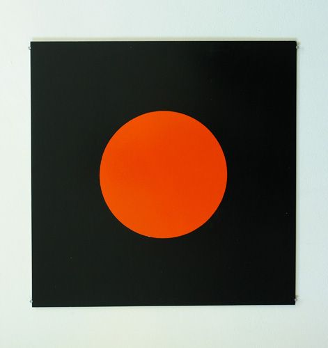 John Nixon, Orange Monochrome (with black), 2002, enamel on mdf