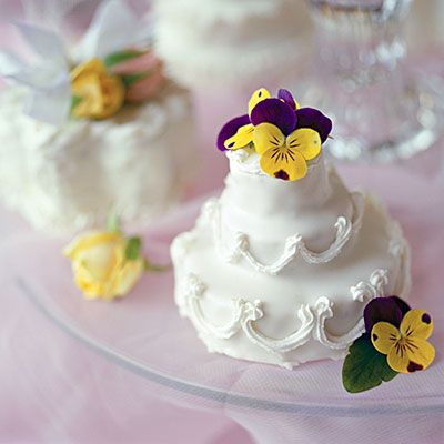"""Individual """"wedding"""" cakes for a bridal shower"""