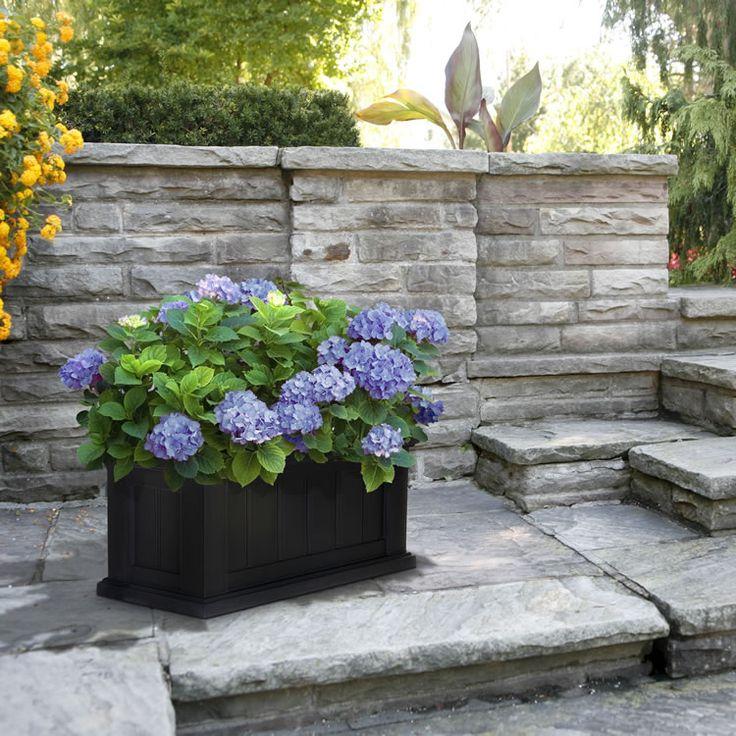 patio decor in black and white cape cod 24 x 11 patio planter - Patio Plant Ideas