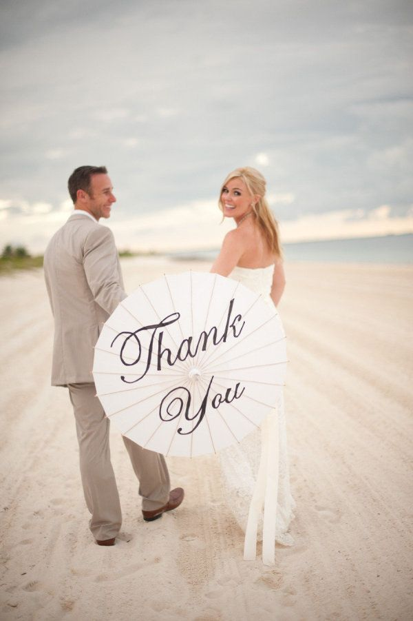 a cute image for thank you cards after the wedding