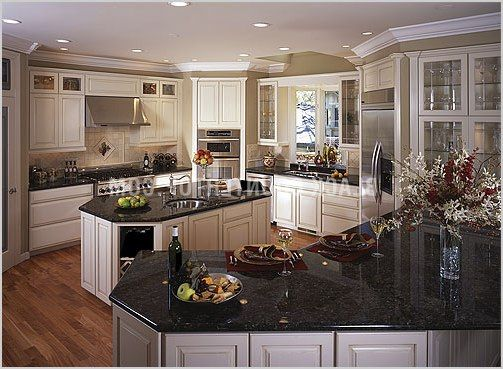 kitchen black granite countertops - Google Search