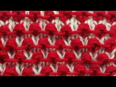 Забавные шишечки - узор вязания спицами Knitting pattern 17 - YouTube