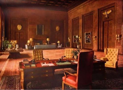 Hitler's office in the Chancellery, Berlin, Germany