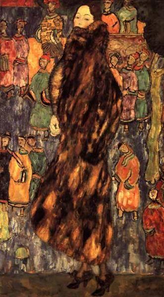NOT DETECTED Gustav Klimt Original Title: Der Iltspelz Date: 1916-1918 Style: Art Nouveau (Modern) Period: Late works