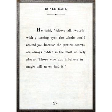 Check out this item at One Kings Lane! Roald Dahl, White
