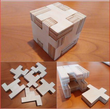 Un nuovo puzzle per gli amanti dei rompicapo: un cubo 4x4x4 cavo all'interno.