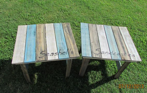 Best Serene Village Set Of 2 Weathered Look End Tables Made 400 x 300