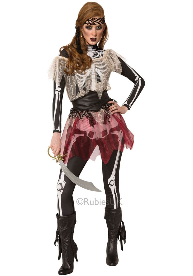 Adult Skellie Pirate Wench Costume - Ghost & Headless Costumes at Escapade™ UK - Escapade Fancy Dress on Twitter: @Escapade_UK