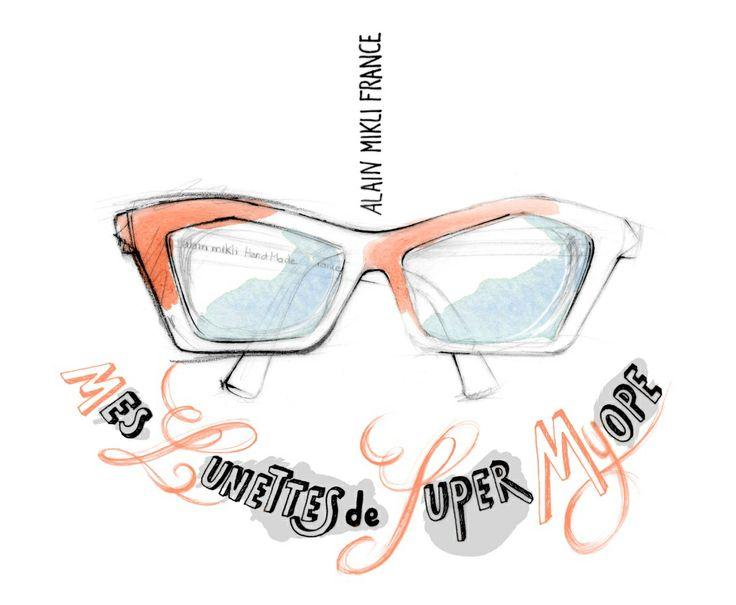 Illustration de mode, lunettes design, Florence Gendre