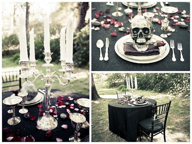 I would totally do this for my wedding!  Corpse Bride wedding decor wedding party decor party