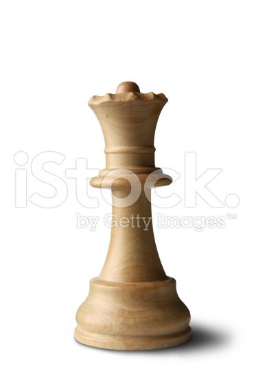 Chess: Queen (White) royalty-free stock photo