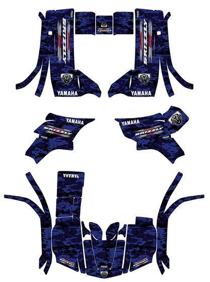 Yamaha Grizzly 350 Yfm Graphics Decals Excellent Quality