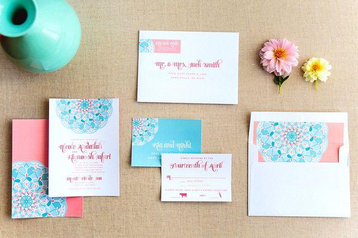 28 best persian invitations images on pinterest invitation ideas peach persian art wedding invitations the goodness 001g filmwisefo
