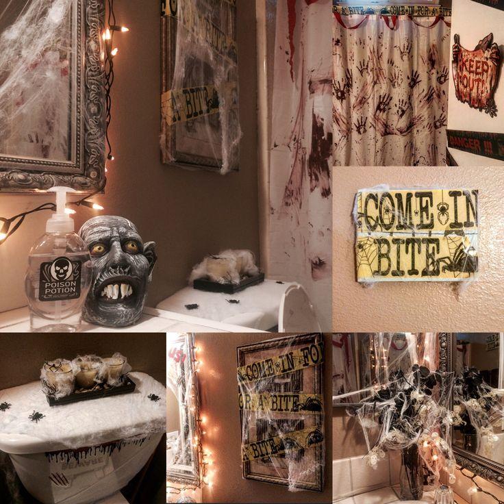 inexpensive halloween bathroom decor inexpensive way to spookify your bathroom spider web 99 - Michaels Halloween Decor