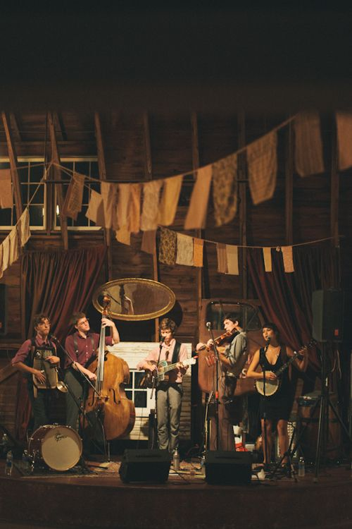 What a great band! Vintage inspired wedding at Blue Dress Barn in Michigan, photo by Heather Jowett Photography | junebugweddings.com