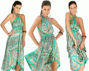 Vestidos hindues de fiesta cortos
