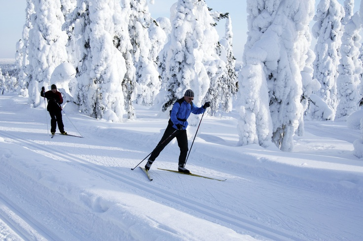 Cross-country skiing in Vääksy