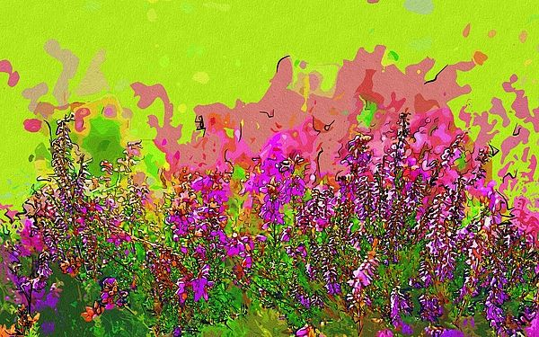 Flowers In Art by Michael Vicin  #flowers #art #poster #gifts