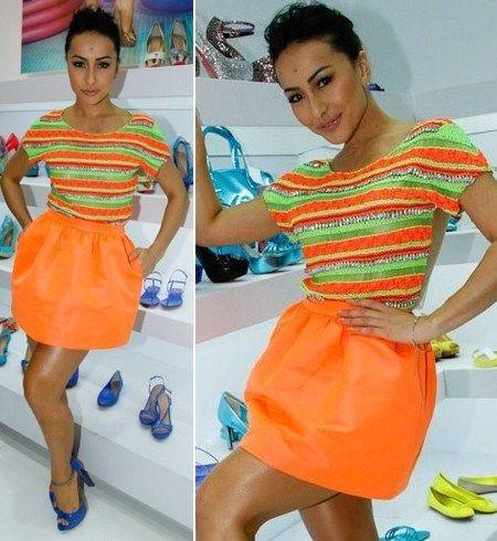Sabrina Sato - Look com cores cítricas