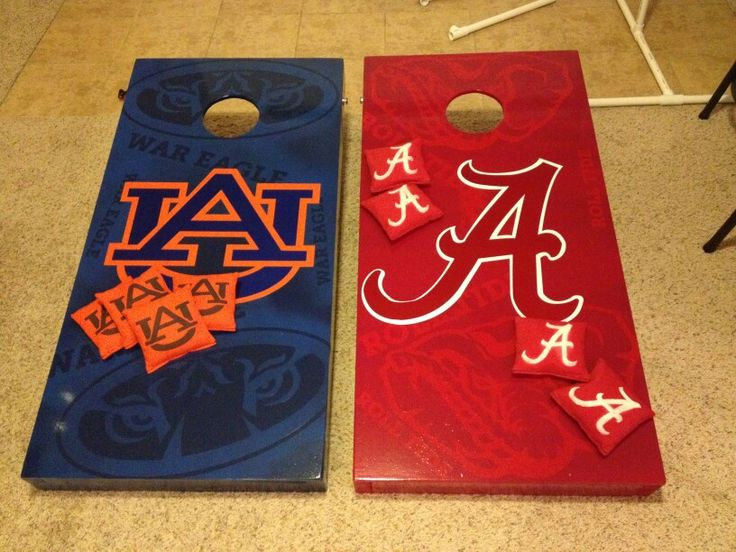 Auburn vs Alabama Cornhole Boards