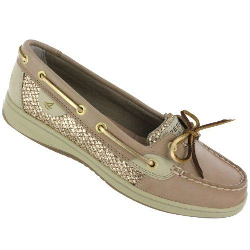 sperry top sider s angelfish boat shoe linen gold