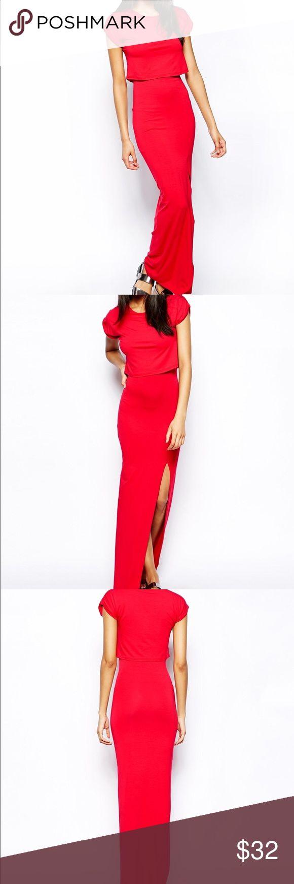 ASOS Red T-Shirt Maxi Dress - ASOS Dresses Maxi