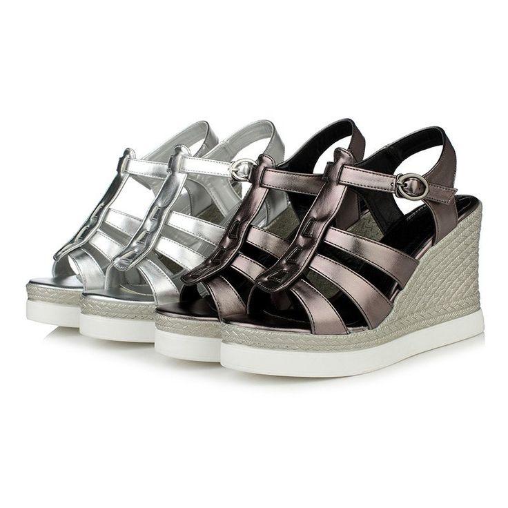 Women Gladiator Sandals Wedges Platform High-heeled Shoes