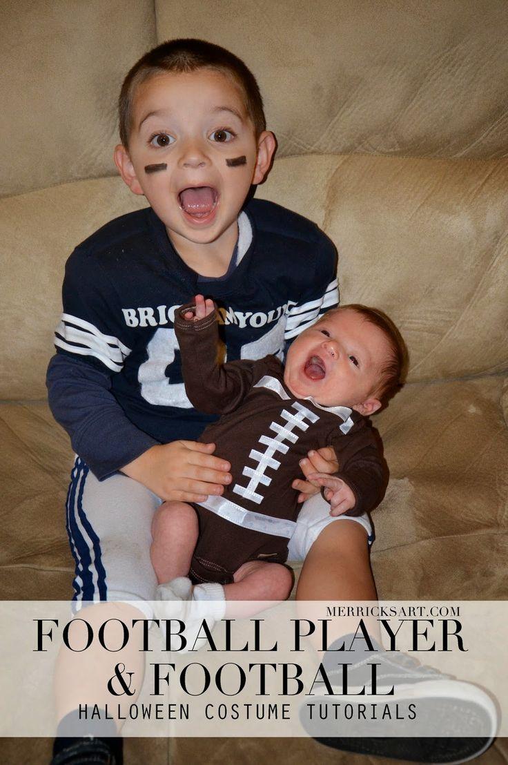 homemade halloween football player baby football tutorials - Infant Football Halloween Costume