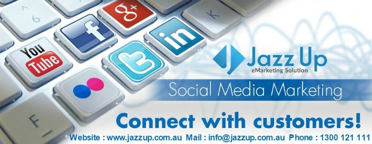 Jazz Up, an Australian based Social Media Marketing Company expert in gaining traffic and attention for our clients via social media websites. Whether you likely to improve your social media marketing or want to remain updated with the best social media sites, tools and tips related to it, then Jazz up Australia is the best Social Media Marketing website to select.  Mail : info@jazzup.com.au Phone : 1300 121 111   #SocialMediaMarketing