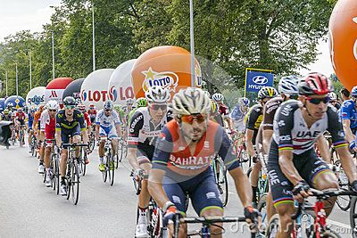 Each year in Poland is a bicycle race Tour de Pologne. The first day in Krakow, Start on the main market an Finsh on common land błonia .   Link   http://www.tourdepologne.pl/pl/