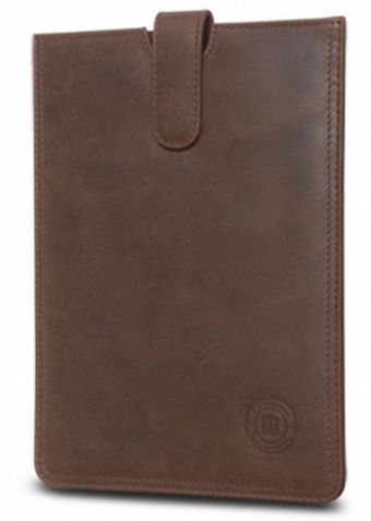 Do you need your iPad when you are on the go?  Then you should take a look at this exclusive leather slip cover for your iPad mini in hunter brown.  This cover has a padded interior and a magnetic closing mechanism that will protect your iPad when you need to take it with you.  For more information about our products visit our brand new webshop at www.dbramante1928.com.