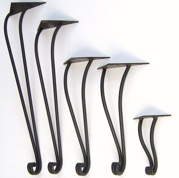 Traditional Style Hand Forged Iron Table Leg by Maidens of Iron, Inc. (priced per leg)
