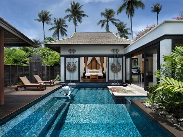 "Amazing private hotel pools: ""Anantara"" Phuket, Thailand - A private pool, alfresco tub and outdoor dining area make each of the 83 suites at this lavish resort feel VIP. The daily tropical fruit delivery won't exactly make your feel like a schlub either."