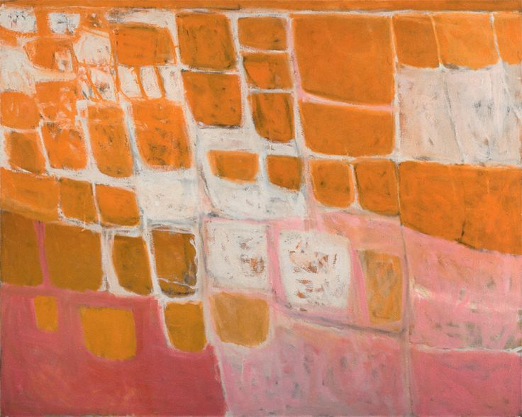 William Scott, Orange and Pink, 1957, Oil on canvas, 122 × 152.5 cm / 48 × 60 in, Private collection