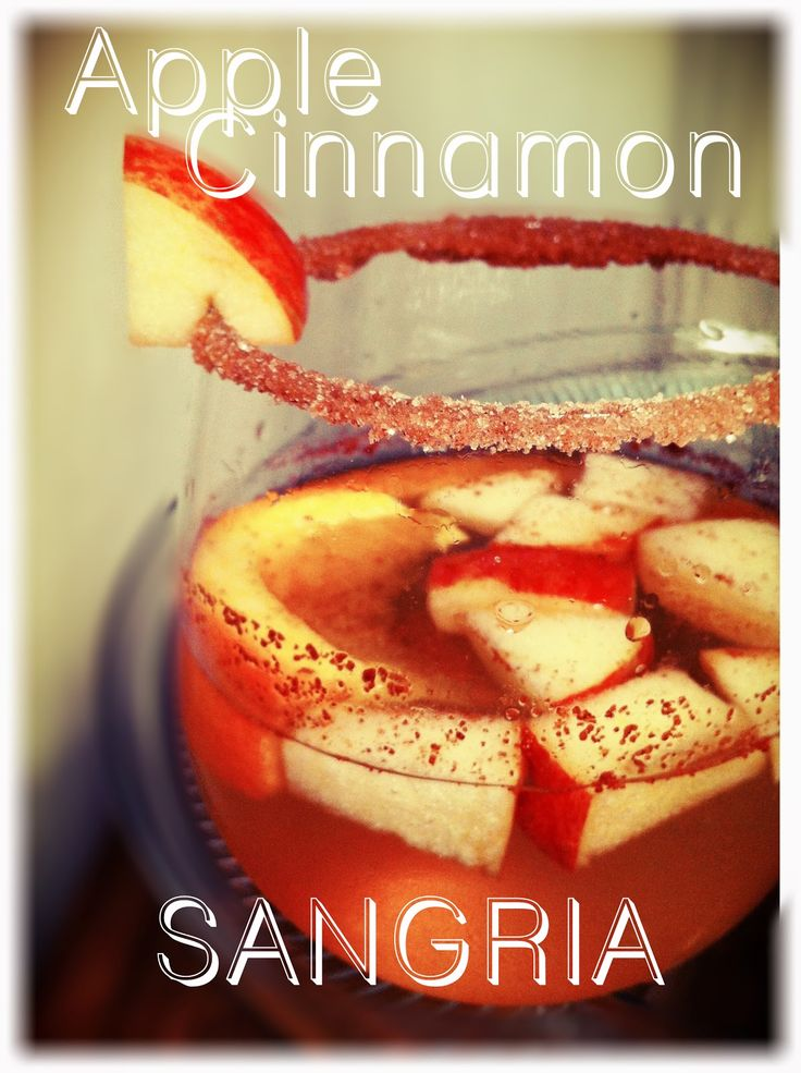 Apple Cinnamon Sangria recipe Super Easy. Fall cocktail Great fall drink! So Freakin' Delicious!