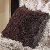 Western leather pillow